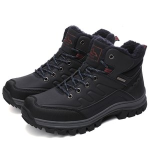 Thick Velvet Winter Men Running Shoes High Top Warm Snow Boots Man Waterproof Outdoor Winter Boots Male Non-Slip Walk Zapatillas