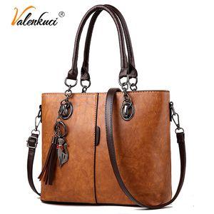 Luxury Handbags Women Bags Designer Big Solid Leather Tassel Crossbody Shoulder Bags For Women Messenger Ladies Hand Bag 201130