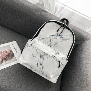 Backpack Fashion Boys Girls Marble Pattern Print Preppy Rucksack Canvas School Bags Travel Shoulder Bag mochilas mujer #H10 A1113