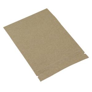 100 adetgrup Plastik Kraft Kağıt Stand Up Perakende Zip Kilit Paketi Çanta Temizle Pencere Ile Doypack Isı Mühür Gıda Depolama Kilitleri Çanta H SQCGTU