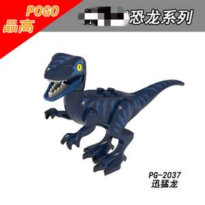Fun Jurassic Dinosaur World Building Blocks toy Series Velociraptor DIY Assembles Figure Bricks Toys Dinosaur Model Kid birthday Gift