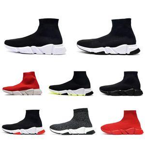 Paris Sock shoes Top Qualité Speed Chaussette Chaussures Casual Chaussures Pas cher Remise Noir Blanc Blanc Rouge Néon Print Soupes Sneakers EUR 36-47