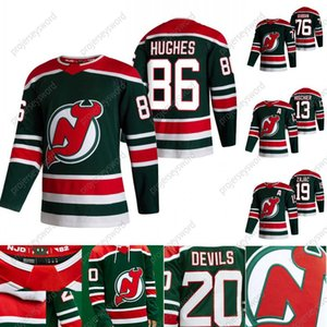 2021 Reverse Retro Jack Hughes Jersey New Jersey Devils Mackenzie Blackwood P.K. 서브 바 니 마일 나무 Travis Zajac Nico Hischier Jesper Boqvist.
