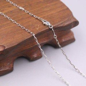 """Ancho del collar Real Platinum 950 Ancho de 1,5 mm de enlace rectangular 19.68 """"L Boutique para hombre hombre"""