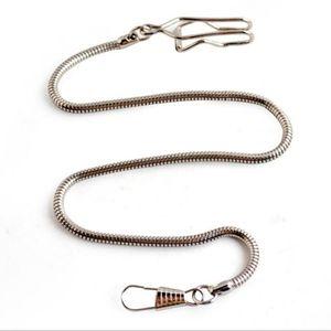 High Quality New Creative Snake Shape Gold Silver Alloy Chain For Fob Albert Pendant Pocket Watch Holder Quartz Pocket Watches jllYaj