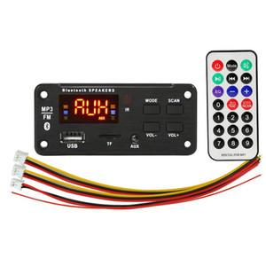 5PCS / PACK MP3 سيارة لاعب اللاعب Decoder Board 5V 12V U Disk TF Play FM Line في Bluetooth 5.0 لسيارة وحدة الصوت مع جهاز التحكم عن بعد