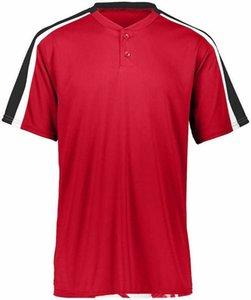 4574846454 Em branco personalizado beisebol jersey homens tamanho s-3xl botão branco para baixo pulôver
