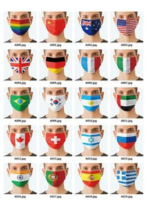 2021 Flag Adults Masks Cycling Outdoor Anti Dust Environmental Protect Among us Party Masks Disposable Cartoon Printed Comfort Mouth Cover