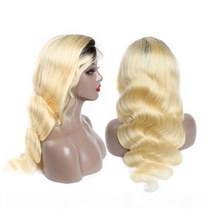 1B 613 Body Wave Human Hair Lace Front Wigs With Baby Hair Ombre 1B 613 Body Wave Remy Lace Front Human Hair Wigs