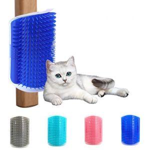 Ecke Pet Pinsel Kamm Spiel Spielzeug Kunststoff Scratch Borsten Bogen Massagegerät Selbstpflege Katze Scratcher HWD3324
