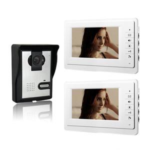 Xinsilu 7 بوصة اللون إنترفون السلكية الفيديو باب الهاتف 1v2 فيديو citofono الرئيسية إنترفون نظام V70F-L 1V2