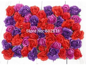 SPR Free Shipping 10pcs lot Artificial silk rose flower wall wedding backdrop road lead floral market decoration