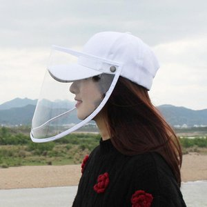 Fashion Adult Sunscreen Hat Clear Cover Women Girl Removable Multi-function Clear Cover Anti-Saliva Baseball Cap Sun Hat
