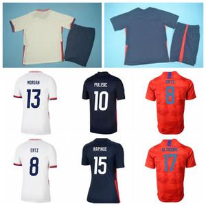 Fútbol 15 Rapinee 13 Morgan Jersey 19 Dunn 8 Ertz 2 Yedlin 17 Heath Krieger Lavelsle Press Camisa de fútbol hombre mujer joven M-G