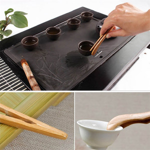 Natural Bambu Clip clipe Handmade chá Tweezer Chinês Kongfu Tea Tools Multifunções Multifunções Bacon Salada Açúcar Alimentos Toast Torrada Tongs CCA3298