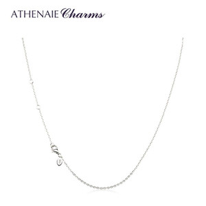 Athenaie 925 Sterling Silver Basic Collana Collana Catena con chiusura aragosta per Charms Pendente Regolare la lunghezza