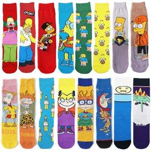 Dibujos animados anime personaje moda novedad divertido casual hombres calcetín calcetines de skate regalo de Navidad