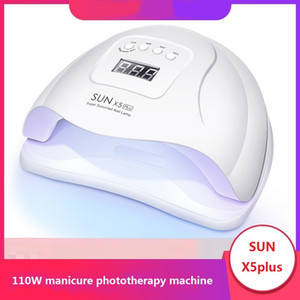 110W Máquina de Manicure UV Lâmpada LED Secagem Rápida Lâmpada de Manicure Sun X5Plus Indução Prego Baking Lamp Máquina de secagem