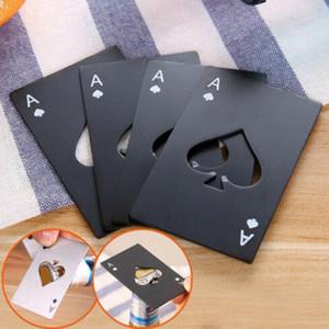 Garrafa de cerveja Abridor de Poker Playing Card Ace of Spades Cap Soda Ferramenta Bar Opener presente da cozinha Gadgets Ferramentas FWD2969