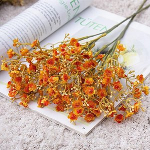 Fall Babysbreath branch Flower arrangement fake plants Artificial Flowers DIY Wedding Decoration wreath