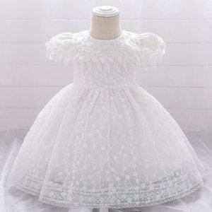 wedding baby clothing 2020 infant Baby Girl Dress Lace white Baptism Dresses for Girls 1st year birthday party
