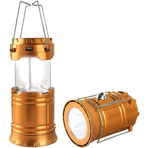 LED Camping Lantern, Solar and Rechargeable Lantern Flashlight Collapsible and Portable Light for Daily,Camp,Hiking,Night Fishing, Emergency