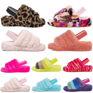 Neue Designer Australien Frauen Flusen ugg uggs Oh Fuzz Yeah Cozette Disco Checker Scuffer Spieler Fluffita Womens Rutsche Australier Pelz Pelzer Slippers