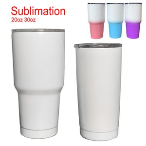 Fast Shipping 20oz 30oz Large Capacity Double Wall Sublimation Coffee Mug DIY Sublimation Beer Tea Tumbler