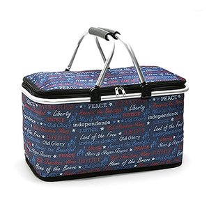 Insulated Outdoor Picnic Bags For Camping Portable Cooler Bags Organizer Vacation Trunk While Traveling Shopping Carry Basket1