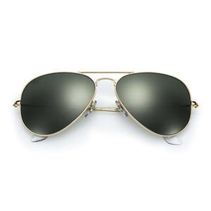 58mm 62mm Sonnenbrille Männer UV-Schutz Sonnenbrille Frauen fahren schwarze Linse Sonnenbrille Glas Linsenr Zubehör Gafas