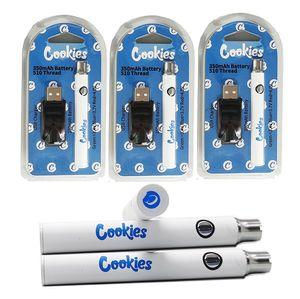 New Cookies Vape Pen Battery 350mAh Capacity USB Charger Blister Kits 350mAh Preheat Vaporizer Battery Variable Voltage Atomizer Batteries
