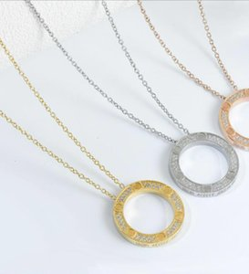 Fashion brand LOVE Round Designer necklace for lady Women Party Wedding Lovers gift engagement Luxury Jewelry for Bride With BOX
