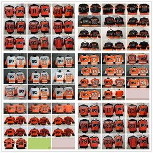 2021 Реверс Ретро Филадельфии Флары хоккея 28 Claude Giroux 13 Кевин Хейс Оскар Линдуббл Эрик Линдос Картер Харт Джакуб Вораккские трикотажные изделия