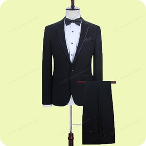 2020 Black Men Suit Men Wedding Suits For Custom Made Business Costume Tuxedos Formal Groom Best Man Terno Blazer Masculino