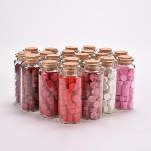 1 Bottle Hot Sale 20 Colors Wax Beads Sealing Wax Sticks For Retro Seal Stamp Wedding Envelope Card Granular With Box