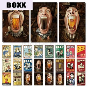 Funny Tin Sign Beer Metal Sign Plaque Metal Vintage Pub Iron Painting Wall Decor for Bar Pub Club Man Cave Metal Posters