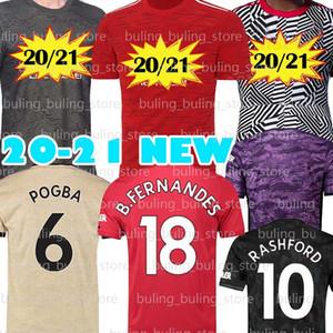 NCAA 6 POGBA manchester Soccer Jerseys 2020 2021 united UTD RASHFORD BRUNO 18 B.FERNANDES MARTIAL JAMES 20 21 Men Kid football shirt