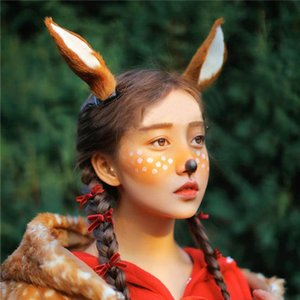 Deer Elk Ear Hairpin Headband Headdress Mori Fairy Style Fashion Photography Antler Props Christmas Simulation
