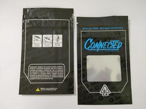 연결된 Mylar 가방 캘리포니아 SF 8th 3.5G 소매 포장 지퍼 가방 냄새 가방 냄새 가방 냄새가 냄새가납니다 Vape 지퍼 스탠드 업 파우치 마른 허브 기화기