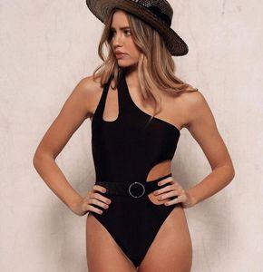 Swimsuit Women's Trend Sweet Solid One Piece Swimsuit Bikini Beachwear Bathing Suit Fashion Swimwear Women 2020 Push Up Brazilian Monokini