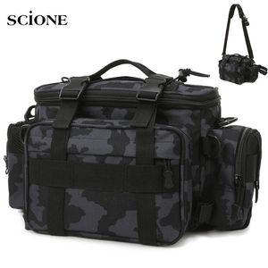 Tactical Molle Fishing Bag Waist Fanny Pack Hiking Hunting Bags Camping Sac De Sport Belt Sling Bag Shoulder XA515+WA