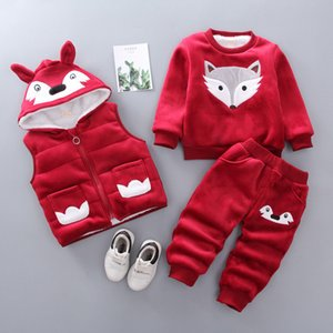 Baby Boys Clothing Sets Spring Autumn Newborn Fashion Cotton Coats+tops+pants 3pcs Toddler Boy Casual Sets Y1113
