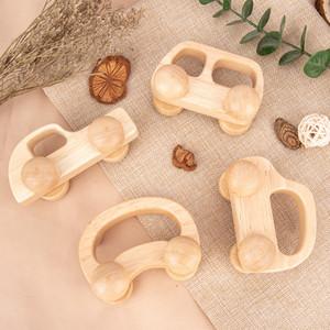 Niños de madera Juguete Coche Compacto Bebé Músculo Entrenamiento Inteligencia Inteligencia Carros Sigue Security Cars Factory Direct 8 5QA F2