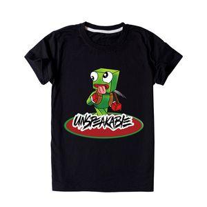 Unspeakable Kids O-Neck T Shirt Fashion Short Sleeve Tops Hot Sale Toddler Teen Boy Girl Streetwear Clothes Tees
