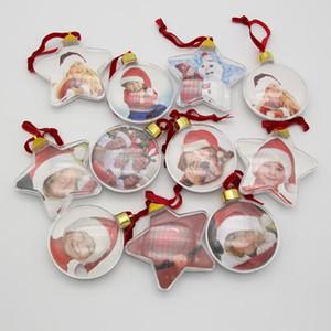 DIY Photo Ball Christmas Cadeaux Photos Clip Pince Pince Arbre Five Stare Arbre de Noël Ornements Cadeau de mariage BWD3078