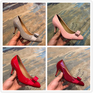 Fashion luxury designer women shoes red bottom high heels Nude black white pu Leather Pointed Toes ladies Pumps Dress shoes