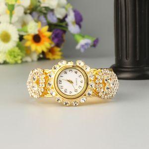 New Fashion Simple and Versatile Wedding Bracelet Watch  Women Full Diamond Shiny Fashion Bracelet Watch High-end Jewelry Ladies