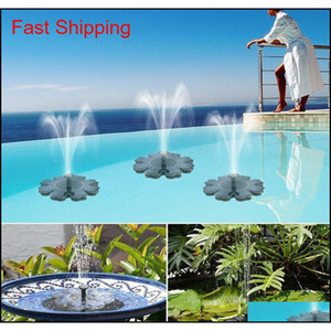Solar Panel Powered Brushless Water Pump Yard Garden Decor Pool Outdoor Games Round Petal Floating Fountain Water Pumps Cca11698 10Pcs Ogli