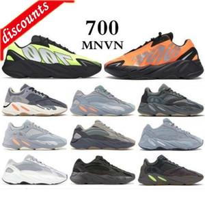 I migliori Top 700 Kanye West MNVN MNVN riflettente Arancione Onda Onda Onda Onda Donne Donne da corsa Sneakers Solid Grey Grey Analog Tael Carbon Blue de