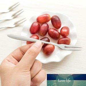 5 unids de acero inoxidable bifurcación de fruta de dos pecinillos de bocadillo pastel pastel postre horquillas al oeste vajilla cafetería inicio flotware accesorios de cocina